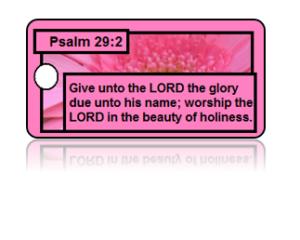 Psalm 29:2 Bible Scripture Key Tags
