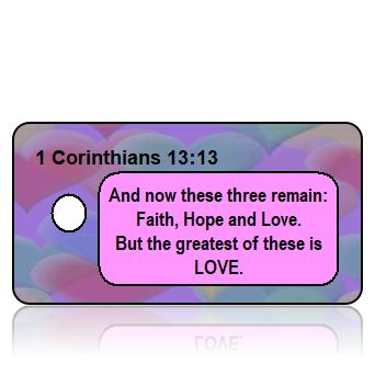 1 Corinthians 13:13 Bible Scripture Key Tags