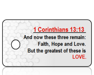 1 Corinthians 13:13 Bible Scripture Key Tag (NIV)