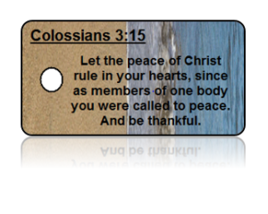 Colossians 3:15 Bible Scripture Key Tags