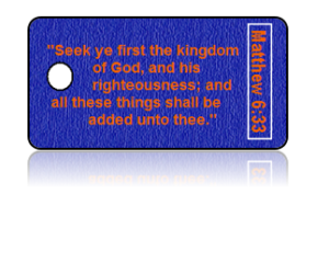 Matthew 6:33 Bible Scripture Key Tags