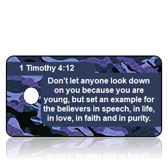 1 Timothy 4:12 Bible Scripture Key Tag