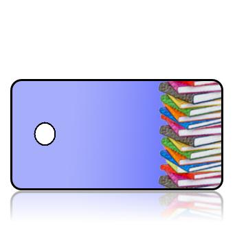 Create Design Key Tags Blue Stack Books