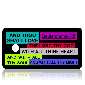 Deuteronomy 6:5 Bible Scripture Key Tags