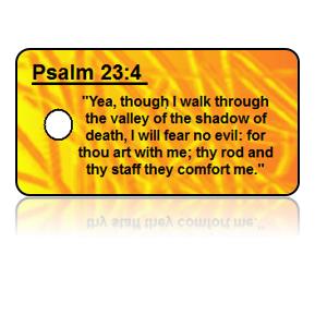 Psalm 23:4 Bible Scripture Key Tags
