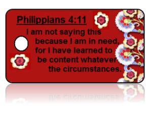 Philippians 4:11 Bible Scripture Key Tags