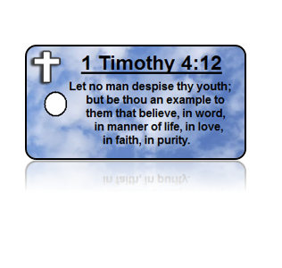 1 Timothy 4:12 Bible Scripture Key Tags