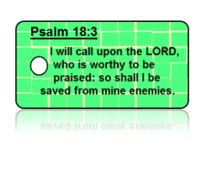 Psalm 18:3 Bible Scripture Key Tags