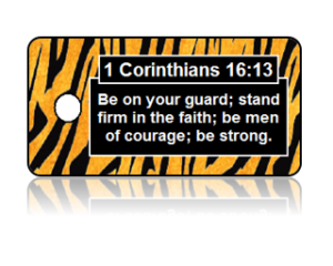 1 Corinthians 16:13 Bible Scripture Key Tag