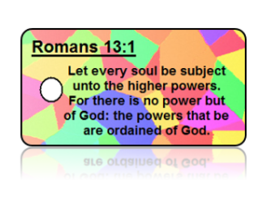 Romans 13:1 Bible Scripture Key Tags