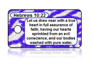 Hebrews 10:22 Bible Scripture Key Tags