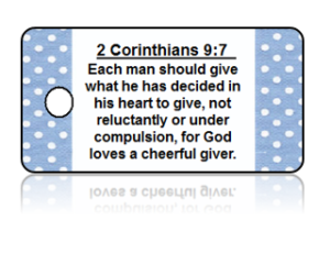 2 Corinthians 9:7 Bible Scripture Key Tags