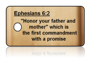 Ephesians 6:2 Bible Scripture Key Tags