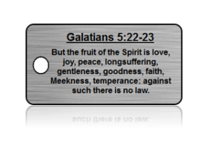 Galatians 5:22-23 Bible Scripture Key Tags