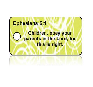 Ephesians 6:1 Bible Scripture Key Tags