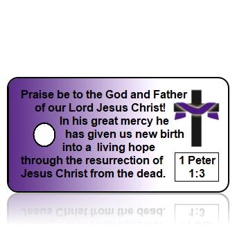 1 Peter 1:3 Scripture Key Tag