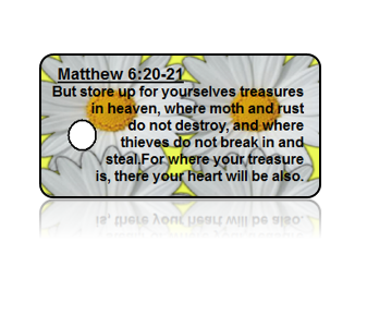 Matthew 6:20-21 Holiday Scripture Key Tags