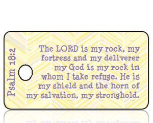 Psalm 18 vs 2 - Yellow Gray Feather Texture