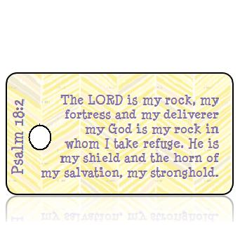 ScriptureTagE11 - Psalm 18 vs 2 - Yellow Gray Feather Texture
