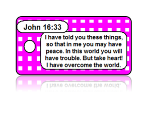 John 16:33 Holiday Scripture Key Tags