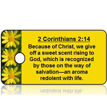 2 Corinthians 2:14 Holiday Scripture Key Tag