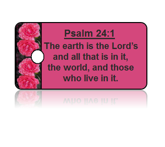 Psalm 24:1 Holiday Scripture Key Tags