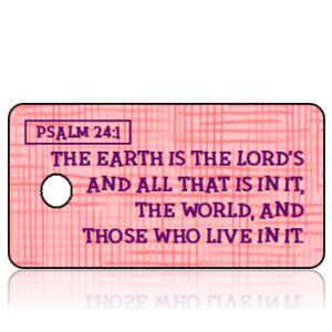 Psalm 24 vs 1 - Pink Scratch Texture