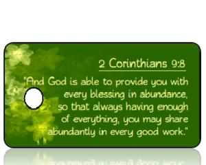 2 Corinthians 9 vs 8 - Daffodils Green Background