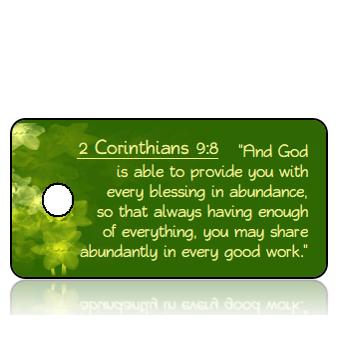 ScriptureTagE17 - ESV - 2 Corinthians 9 vs 8 - Daffodils Green Background