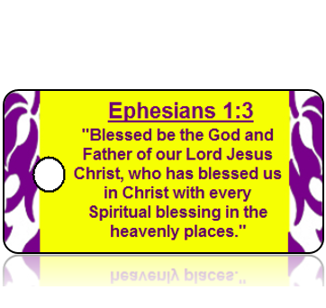 Ephesians 1:3 Holiday Scripture Key Tag