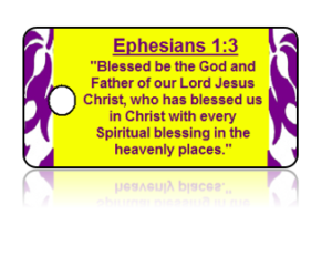 Ephesians 1:3 Holiday Scripture Key Tag