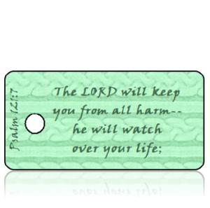 Psalm 121 vs 7 - Mint Green Sweater