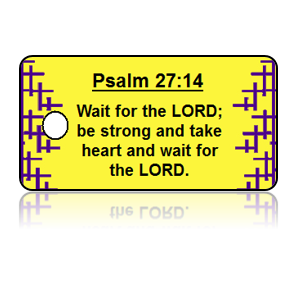 Psalm 27:14 Holiday Scripture Key Tags