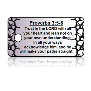 Proverbs 3:5-6 Holiday Scripture White Key Tags