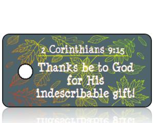 2 Corinthians 9 vs 15 - Colorful Fall Leaves