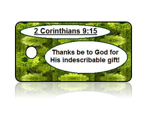 2 Corinthians 9:15 Holiday Scripture Key Tag
