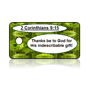 2 Corinthians 9:15 Holiday Scripture Key Tags