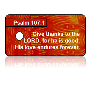 Psalm 107:1 Holiday Scripture Key Tags