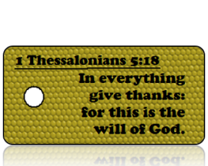 1 Thessalonians 5 vs 18 - Mustard Honeycomb Leather