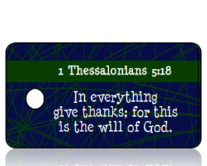 1 Thessalonians 5:18 Holiday Scripture Key Tag