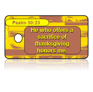 Psalm 50:23 Holiday Scripture Key Tags