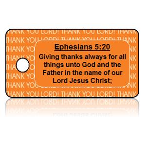 Ephesians 5:20 Holiday Scripture Key Tag