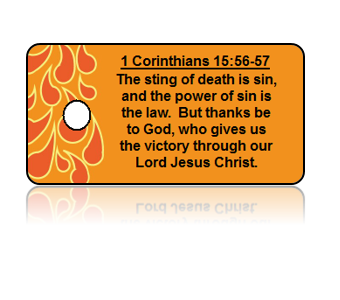 1 Corinthians 16:56-57 Holiday Scripture Key Tag