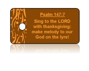 Psalm 147:7 Holiday Scripture Key Tags