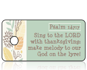 Psalm 147 vs 7 - Graphic Fall Leaves Border