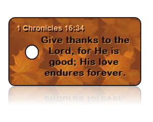 1 Chronicles 16:34 Give Thanks Key Tag (NIV)