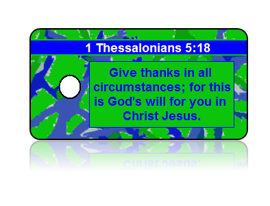 1 Thessalonians 5:18 Holiday Scripture Key Tags