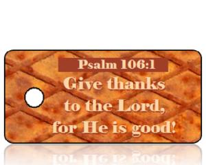 Psalm 106 vs 1 - NIV - Rusted Metal Plate