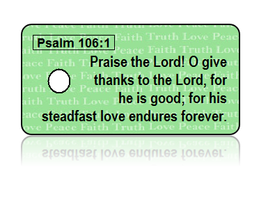 Psalm 106:1 Holiday Scripture Key Tag