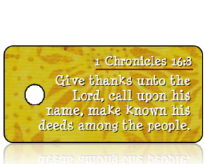 1 Chronicles 16 vs 8 - Golden Sunflowers